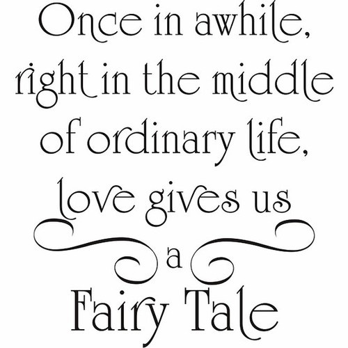 love gives a fairytale