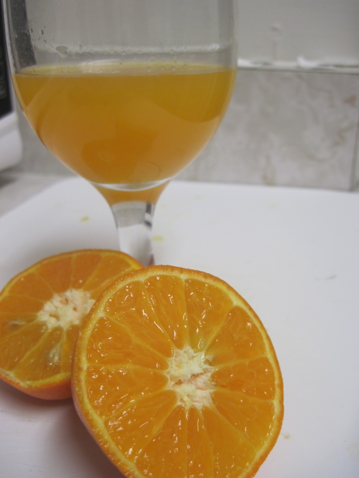 then I prepared some freshly squeezed tangerine juice